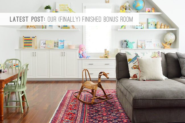 9 Latest Post: Our (Finally) Finished Bonus Room