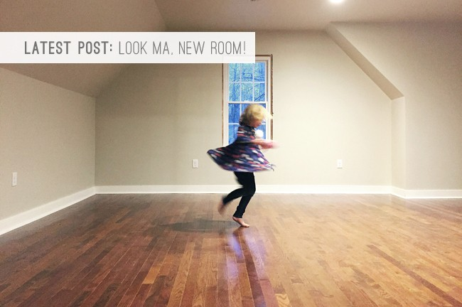 9 New Post: Look Ma, New Room!