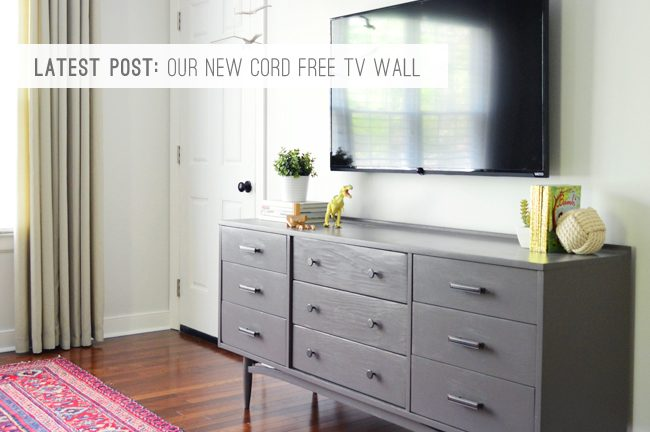 8 Latest Post: Our New (Cord Free) TV Wall