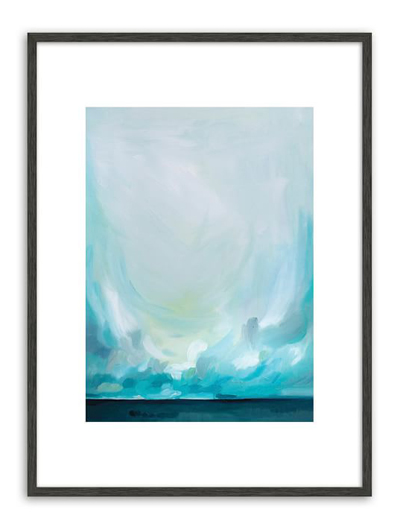 We bought a similar painting by Emily Jeffords for our bedroom and LOVE the peaceful vibe.
