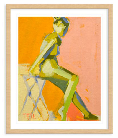 Yay Teil Duncan! We bought one of her beach paintings and hung it in our foyer. Might need this framed nude too…