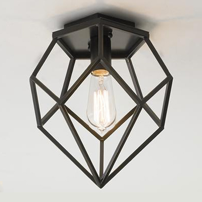 Geometric Diamond Ceiling Light