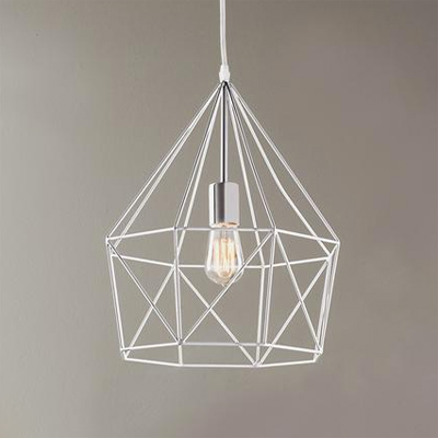 Geometric Lantern – Chrome