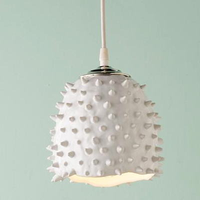 Spiky Pendant – White
