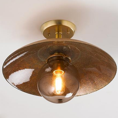 Copper Glass Ceiling Light