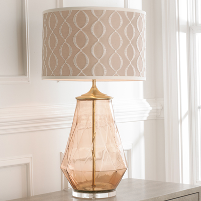Diamond Glass Lamp Base for Shades of Light