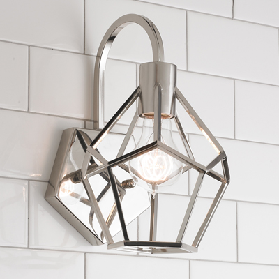 Geometric Diamond Sconce for Shades of Light