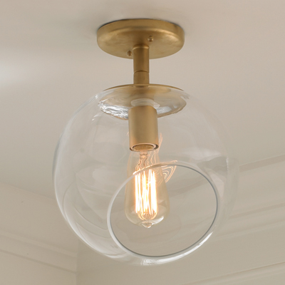 Wonky Glass Ceiling Light