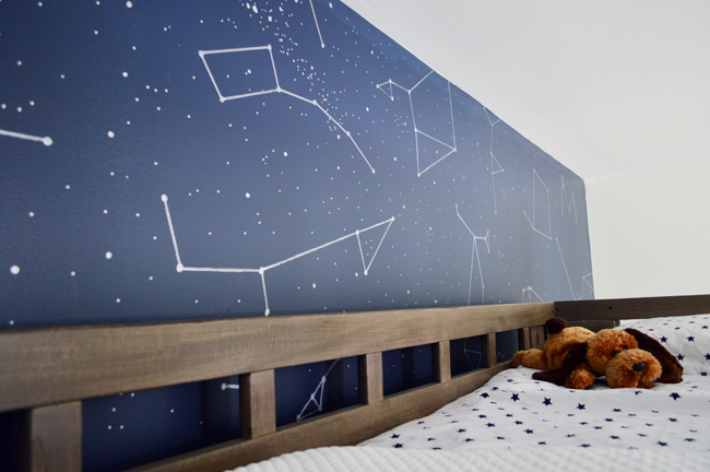 Boys Outer-Space-Bedroom-Constellation-Wall-Over-Loft-Bed