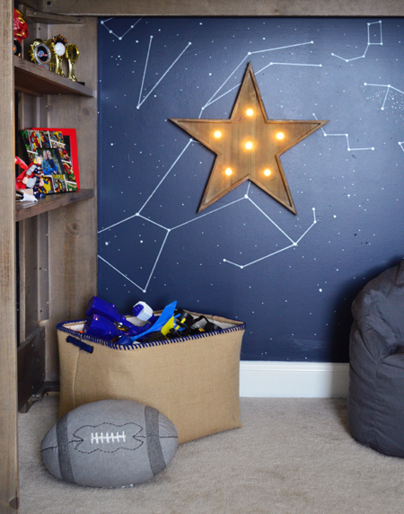 Boys Outer Space Bedroom Loft Bed Play Area. Outer Space Bedroom For A Special Family   Young House Love