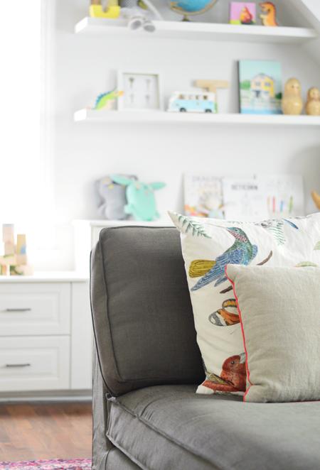 Playful-Family-Bonus-Room-Kivik-Gray-Brown-Bird-Pillow