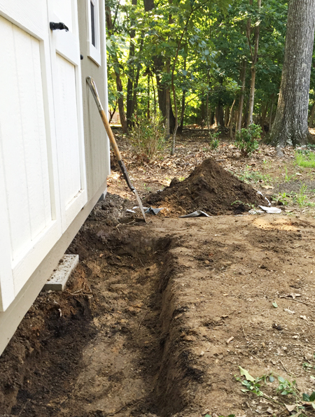 Shed-Stone-Step-Dug-Hole