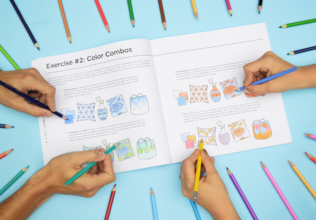 Color At Home Coloring Book Exercises