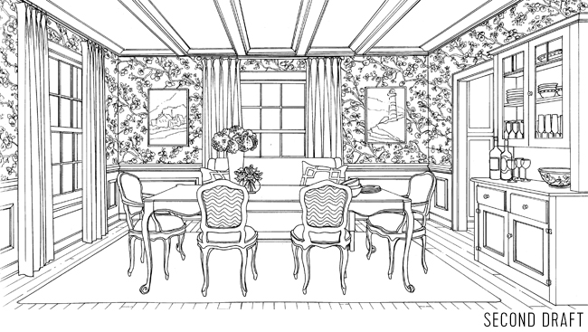 Coloringbook Dining Room Second Draft