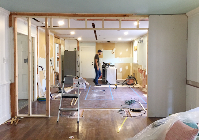 kitchen-demo-drywall-going-up