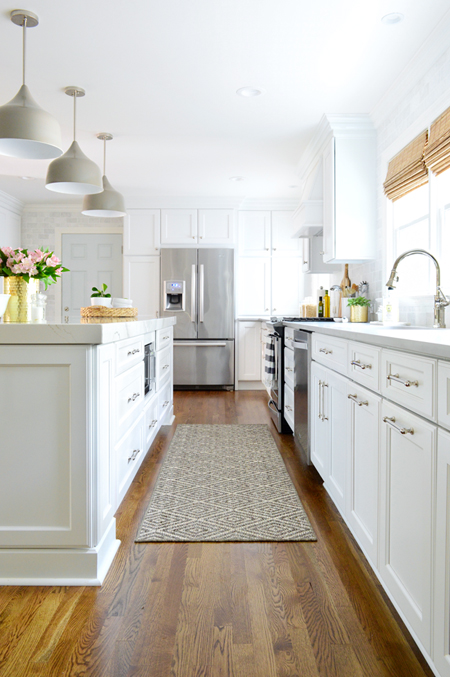 white fridge in kitchen. white-kitchen-remodel-final-down-aisle-to-fridge white fridge in kitchen r