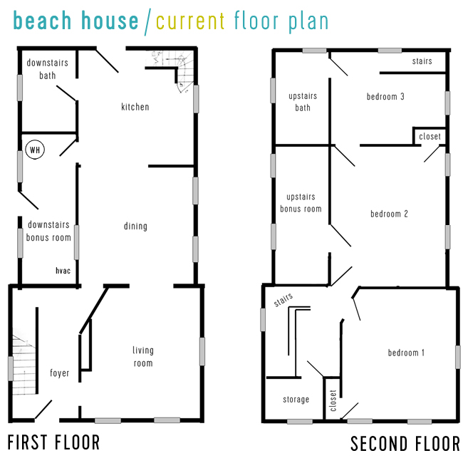 Beach House Tour Current Floor Plan