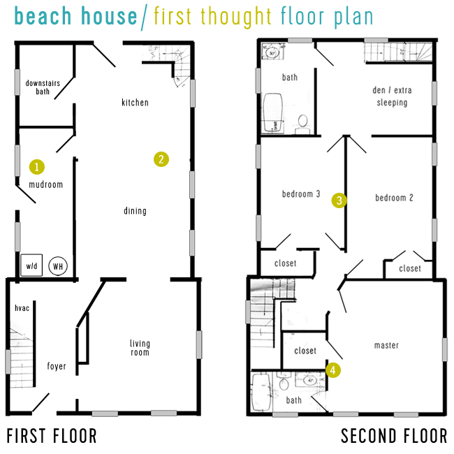 Beach House Tour First Thought Floor Plan
