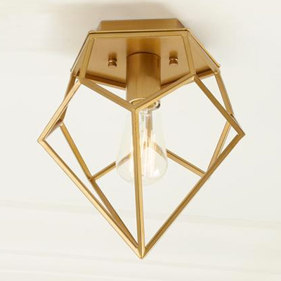 Gold Geometric Flush Mount