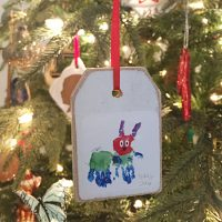 Two Ways To Make Ornaments With Kid Art