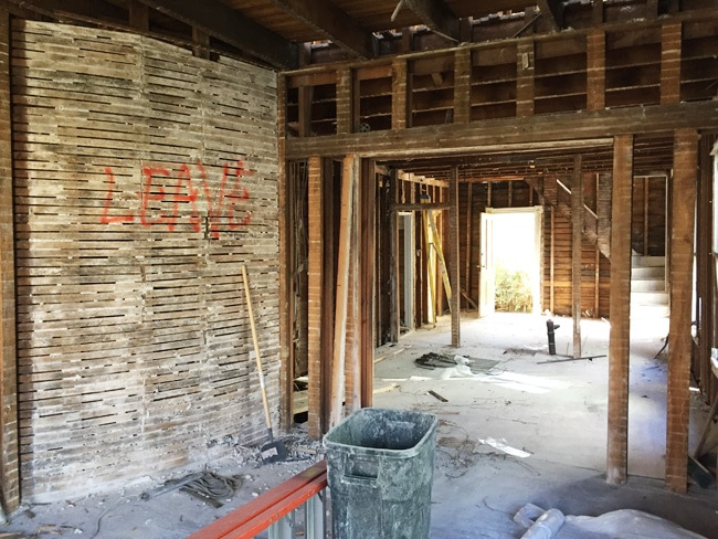 The Beach House Movie Part - 43: As You Can See From The Photo Above, Weu0027ve Demoed Out All Of The Existing  Walls. The Big U201cLEAVEu201d Is Not Some Horror-movie-style Warning, Just A Note  The ...