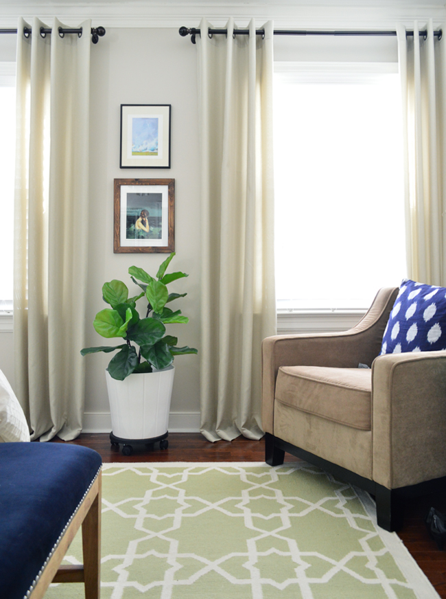 Faux Fiddle Leaf Fig Bedroom