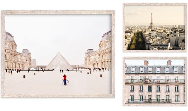 minted paris themed art collection