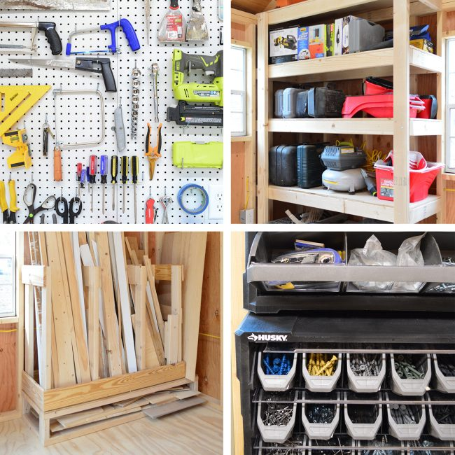 shed storage ideas four projec gird