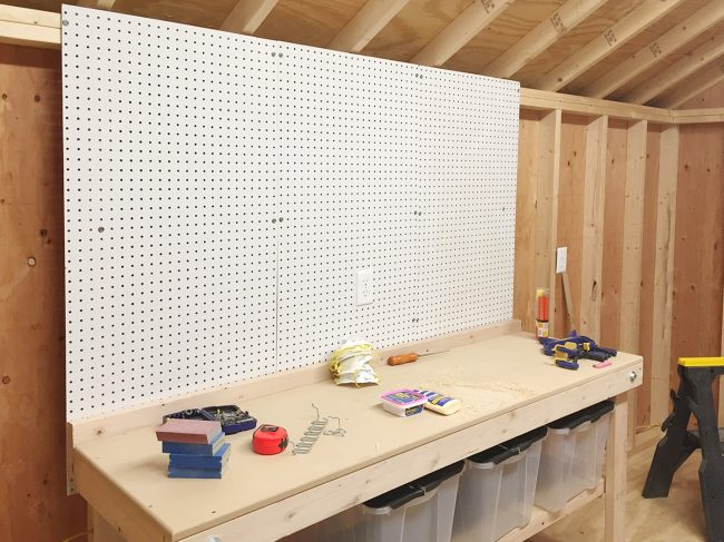 shed storage ideas hanging pegboards