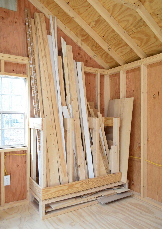 shed storage ideas easy scrap wood organizer