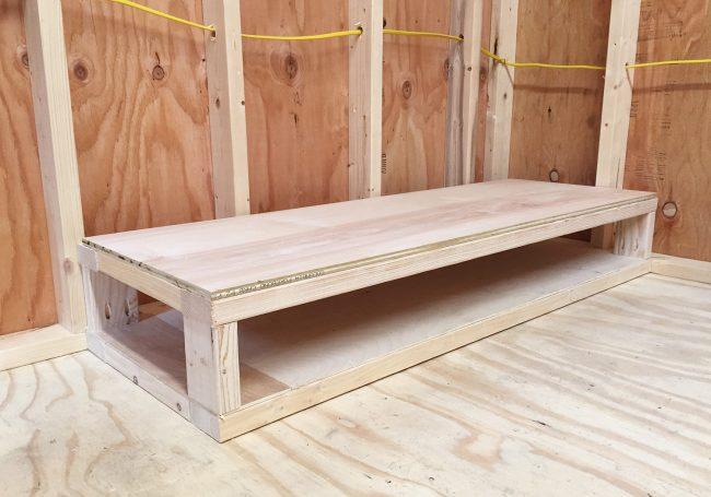 shed storage ideas base of DIY scrap wood organizer