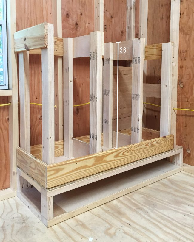 shed storage ideas scrap wood organizer made of scrap wood