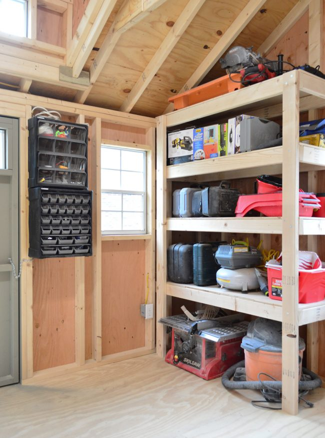 shed storage ideas heavy duty garage shelves & 4 Shed Storage Ideas For Tons Of Added Function