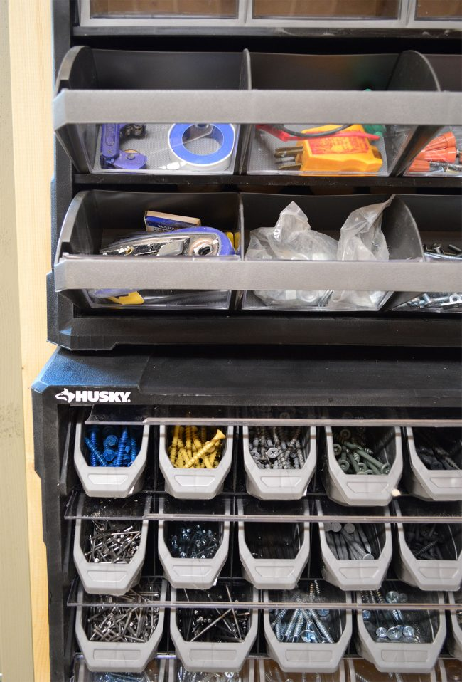 shed storage ideas screw nail organizer on wall