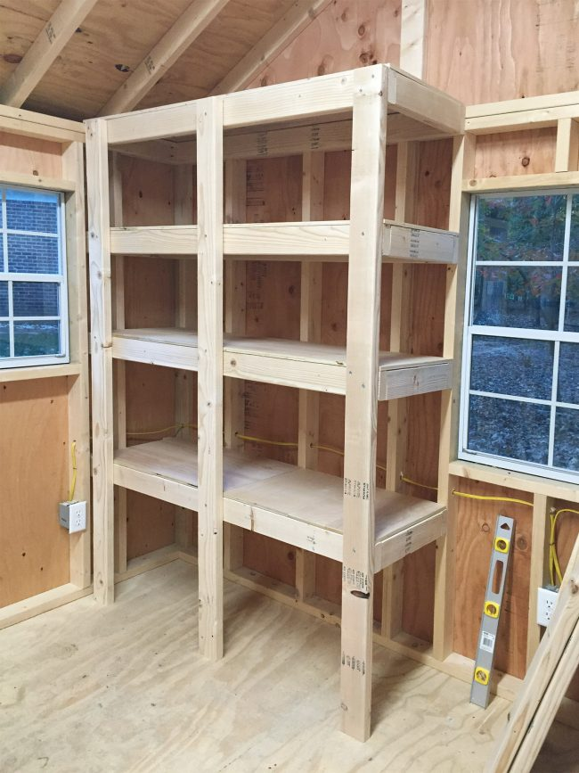 Merveilleux Shed Storage Ideas Adding Tops To DIY Wood Shelves
