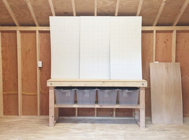 shed storage ideas worktable home depot