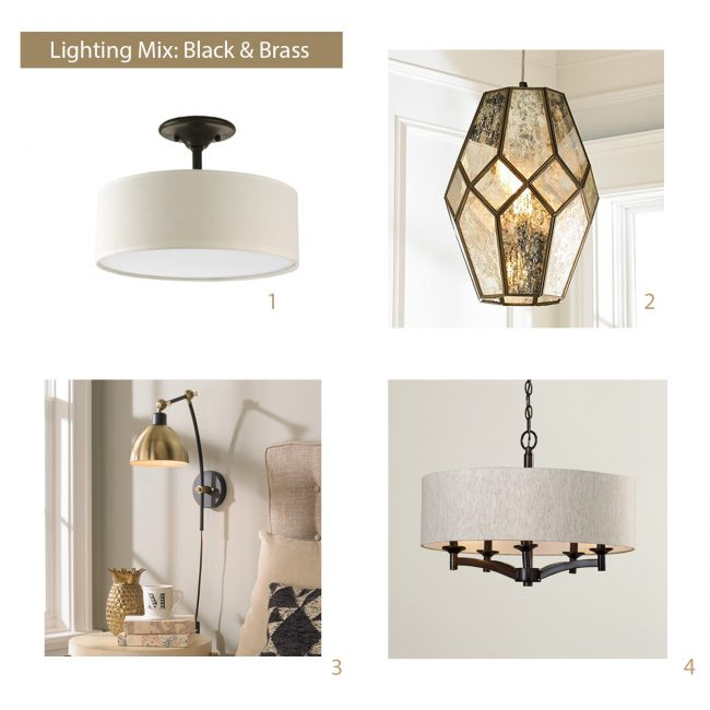 how to select light fixtures brass mood board