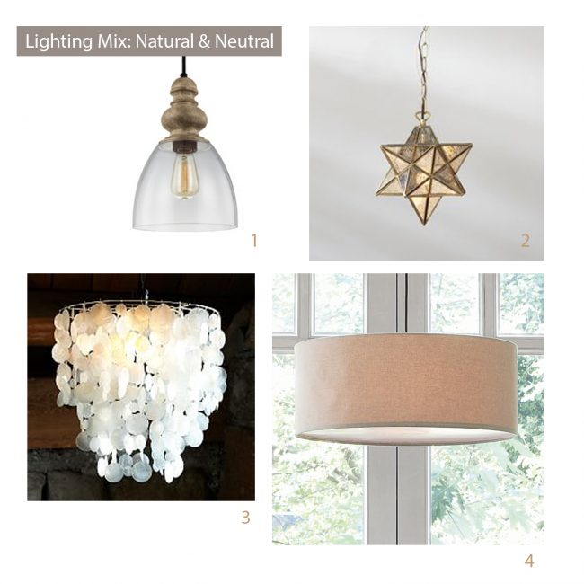 how to select light fixtures natural mood board