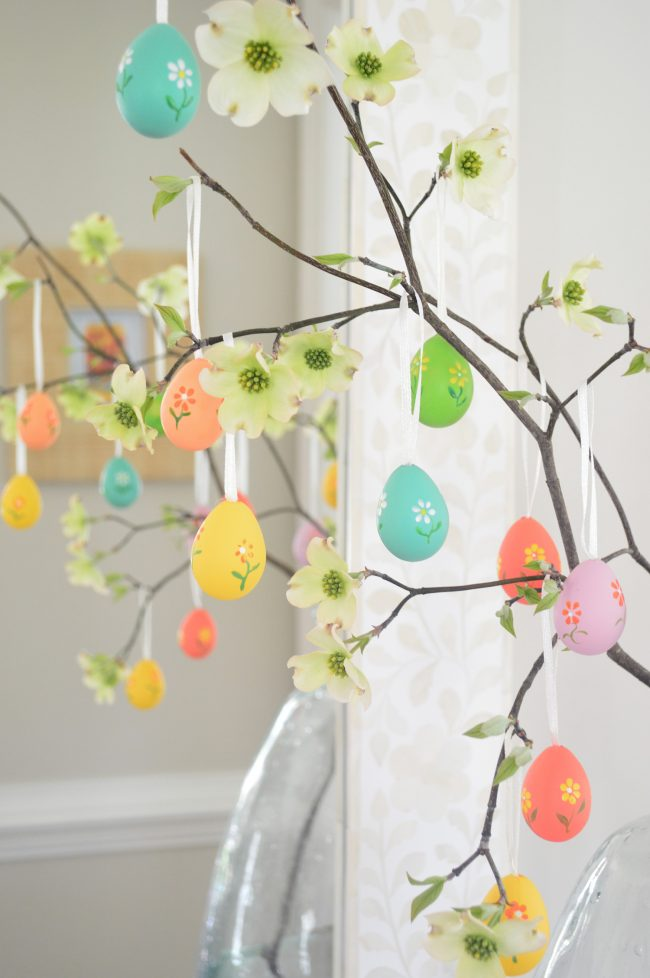 easy easter tree colorful eggs from World Market
