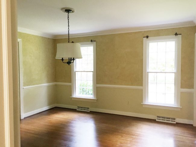 Fresh The paint is Repose Gray by Sherwin Williams paired with some crisp white trim Simply White by Ben Moore And the rug is a Target find