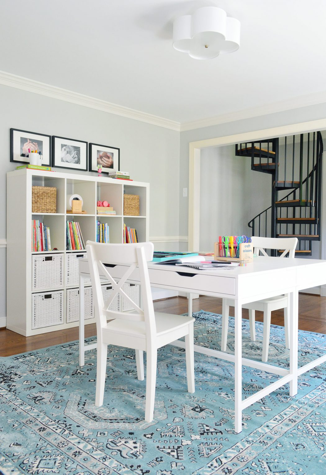 Easy Makeover: A Hardworking Homework Room | Young House Love