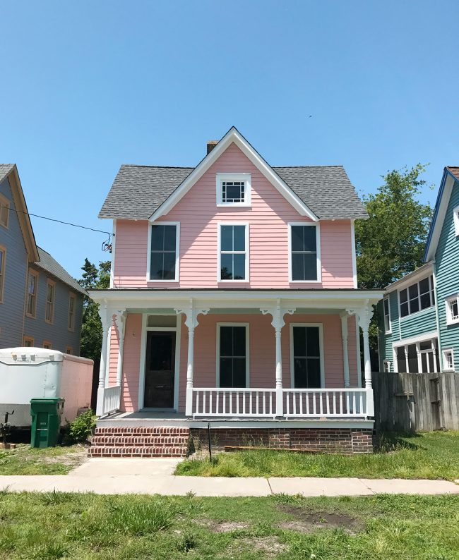 A Vintage Pink Stove For The Beach House   Young House Love