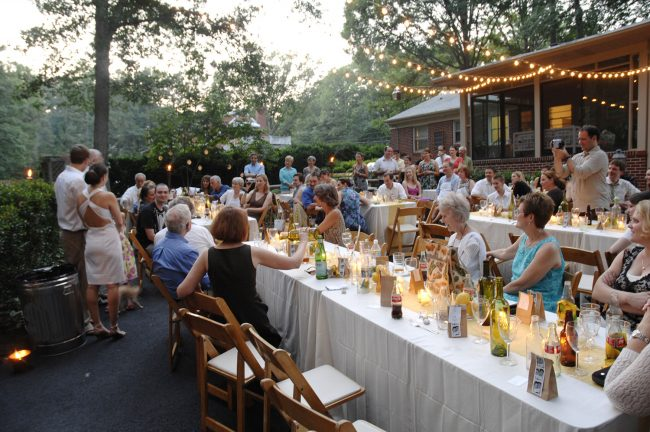 if you want the whole scoop on our backyard wedding budget included and to see tons of photos from the event you can read our virtual wedding album