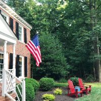 Our Patriotic Front Porch + Front Yard Planning