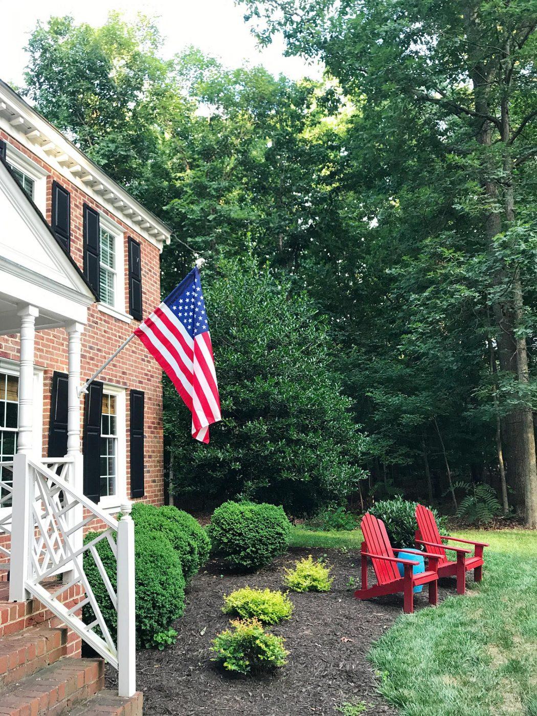 Our Patriotic Front Porch + Front Yard Planning   Young House Love ...