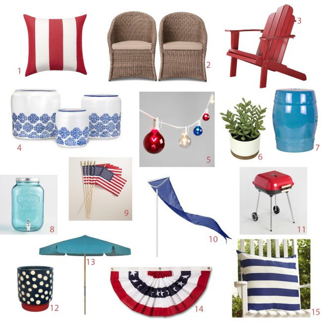 fourth of july outdoor decorations mood board