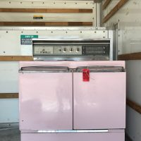 A Vintage Pink Stove For The Beach House