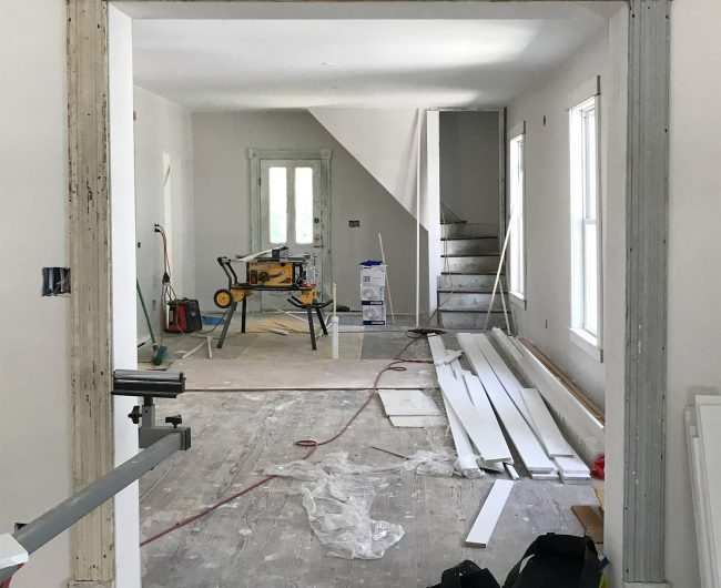 Beach House Progress: Original Trim, Doors, And Lots of New Tile!