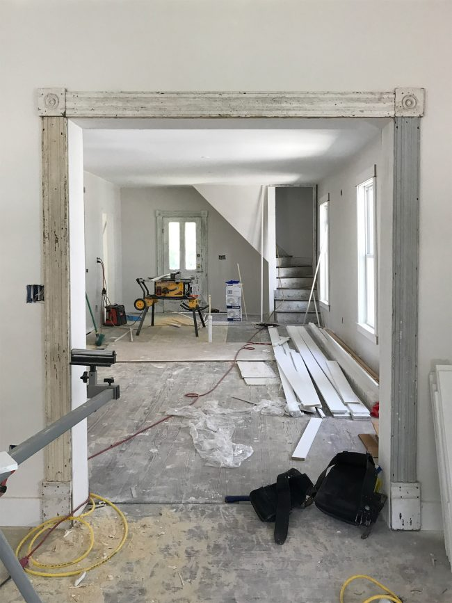 Beach House Progress Original Trim Doors And Lots Of New Tile