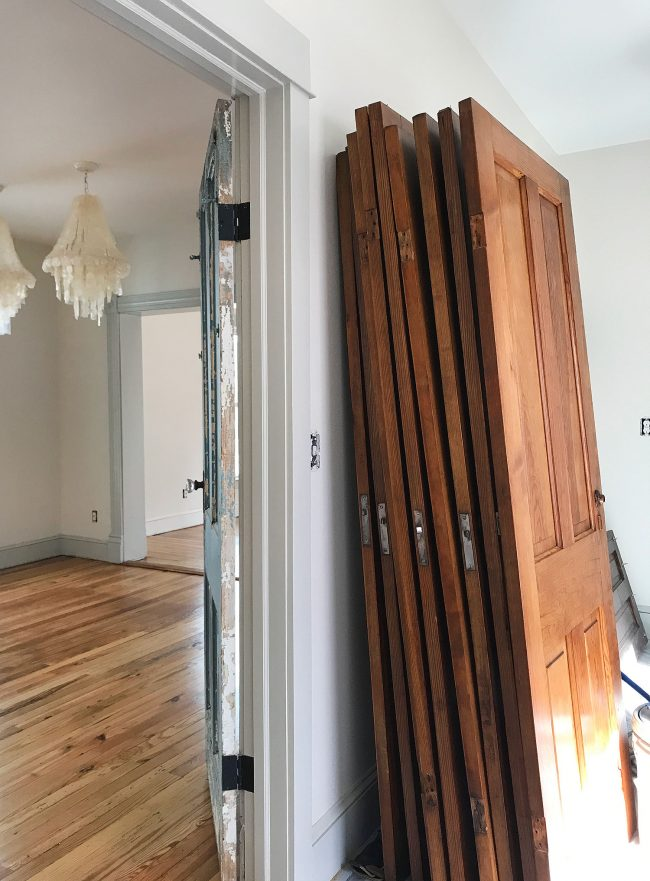 refinished pine doors with pine floors